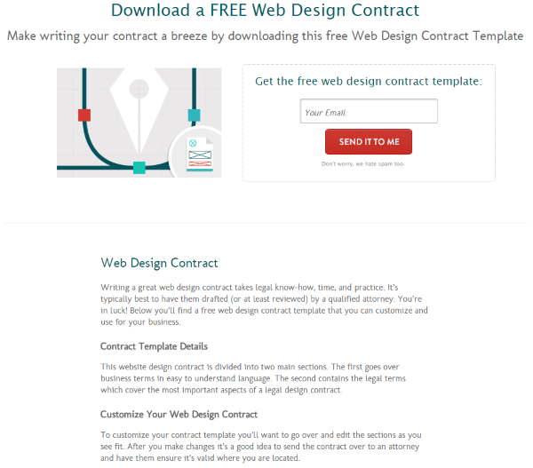where to find web design contract templates for web design projects