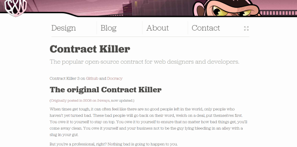 website contract template
