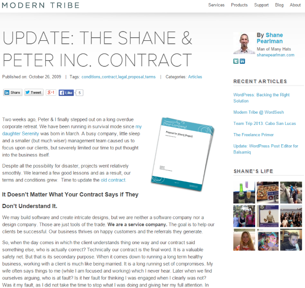 Where To Find Web Design Contract Templates For Web Design Projects - THE SHANE & PETER INC. CONTRACT