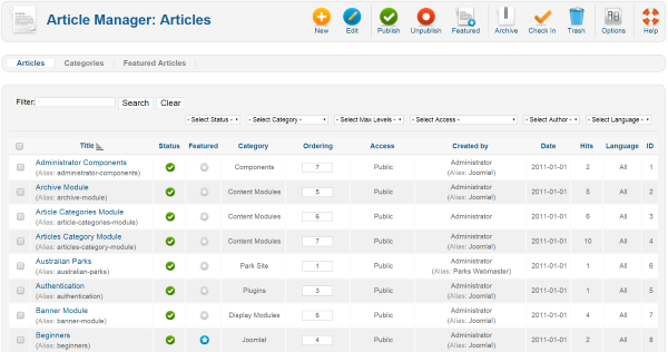 WordPress vs. Joomla – joomla Creating an Article Article Manager
