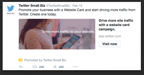 example of a promoted tweet