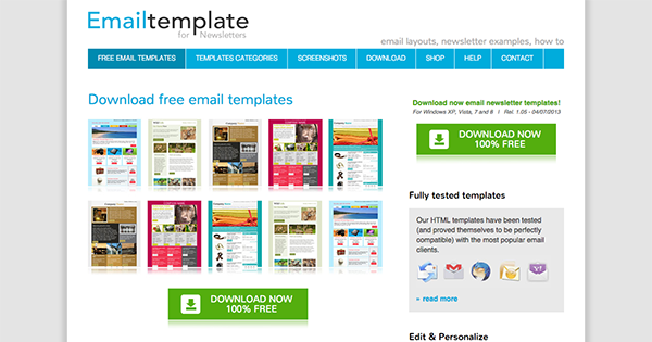 email template newsletter - Free Email Newsletter Templates