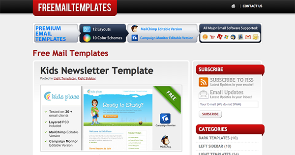 template for email newsletter