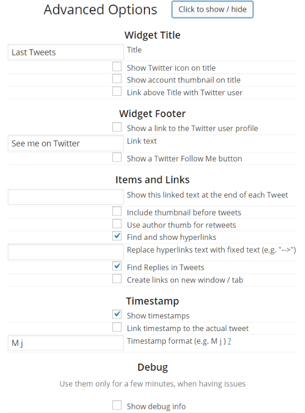 How To Add A Twitter Feed To Your WordPress Website - Really Simple Twitter Feed Widget 2