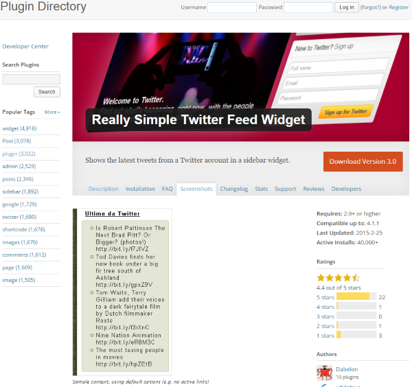 How To Add A Twitter Feed To Your WordPress Website - Really Simple Twitter Feed Widget