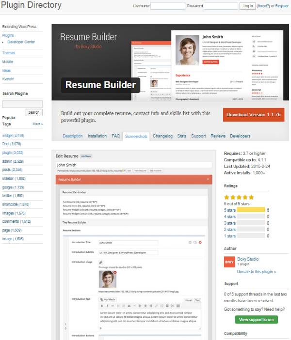 Wordpress Resume resume builder plugin for wordpress How To Create An Online Resume Using Wordpress Resume Builder