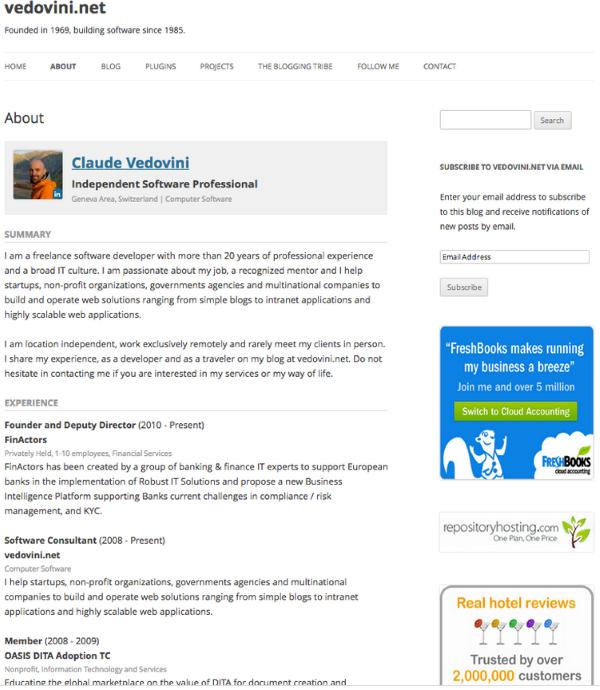 Good How To Create An Online Resume Using WordPress   WP LinkedIn 2 Intended For Create Resume From Linkedin