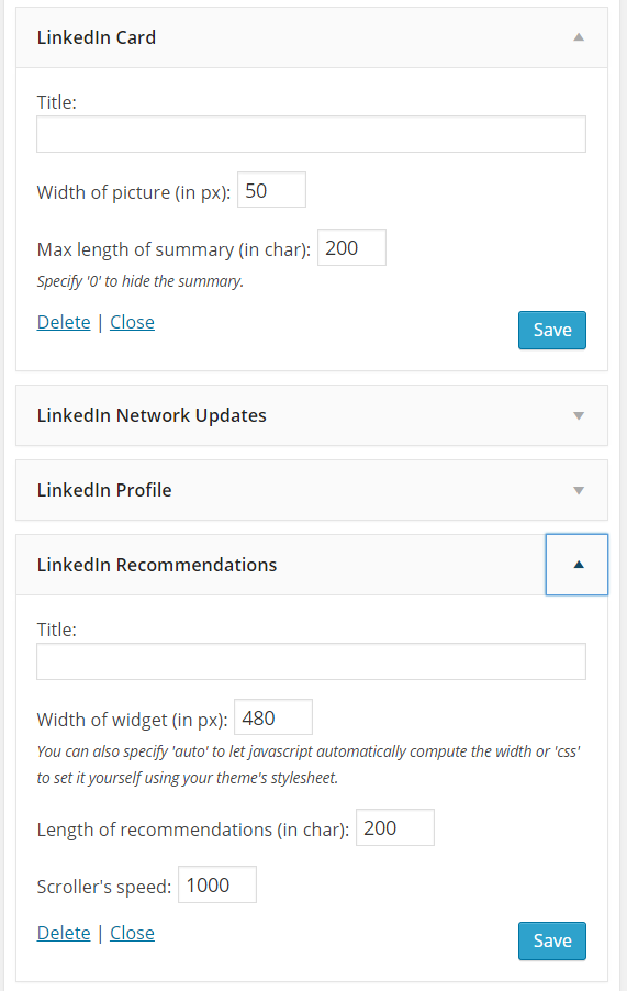 How To Create An Online Resume Using WordPress   WP LinkedIn Widgets  Resume Builder Linkedin