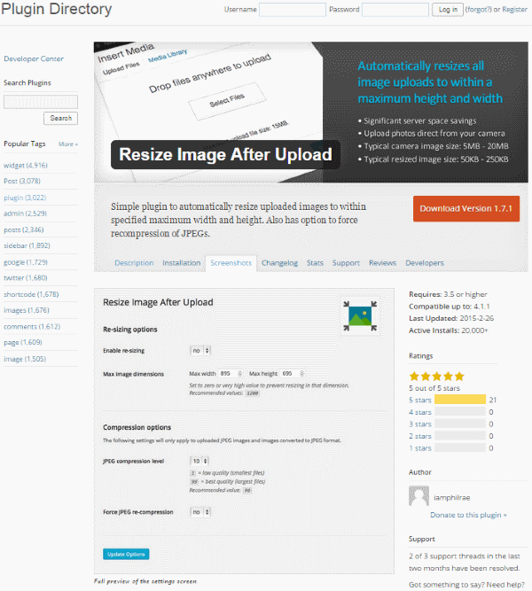 How To Improve Your Google Page Speed Score - Resize Image After Upload