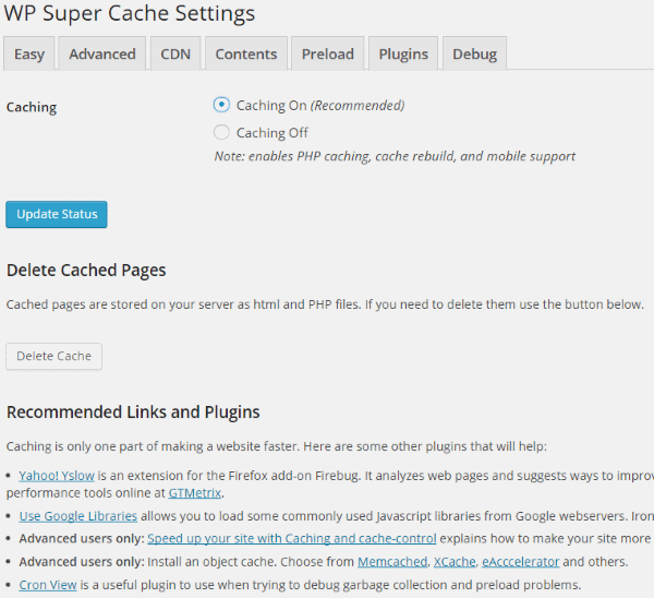 How To Improve Your Google Page Speed Score - WP Super Cache 2