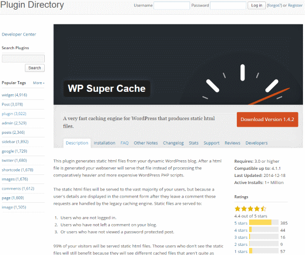 How To Improve Your Google Page Speed Score - WP Super Cache