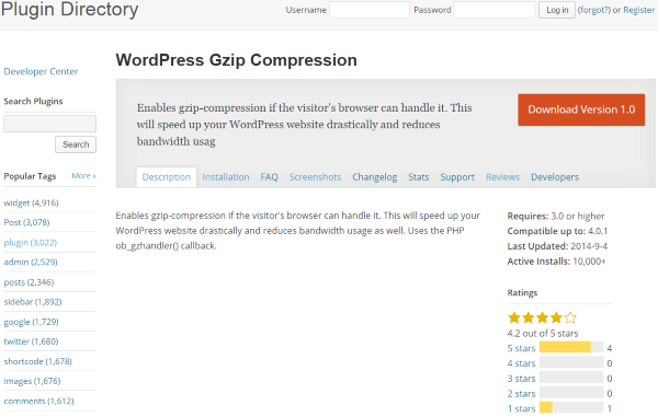 How To Improve Your Website's Yahoo Yslow Score - WordPress Gzip Compression