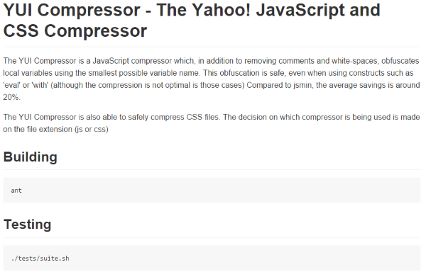 How To Improve Your Website's Yahoo Yslow Score - YUI Compressor