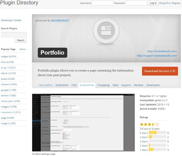 How to Build Your Personal Branding Using WordPress - portfolio
