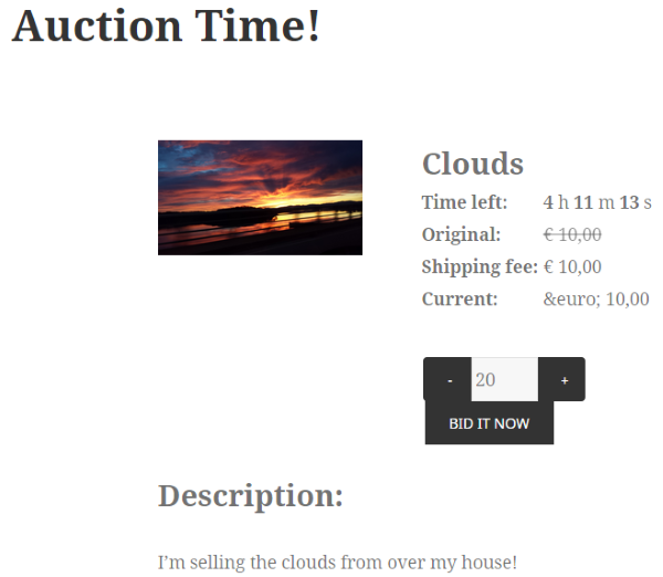 How to Build an Auction Site on WordPress - Dutch auction masters 2