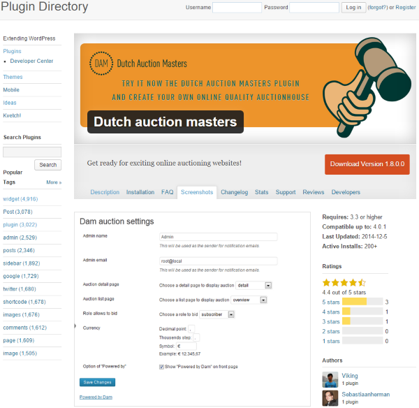 How to Build an Auction Site on WordPress - Dutch auction masters