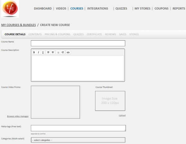 How to Create a School Website with WordPress - LFE online courses 3