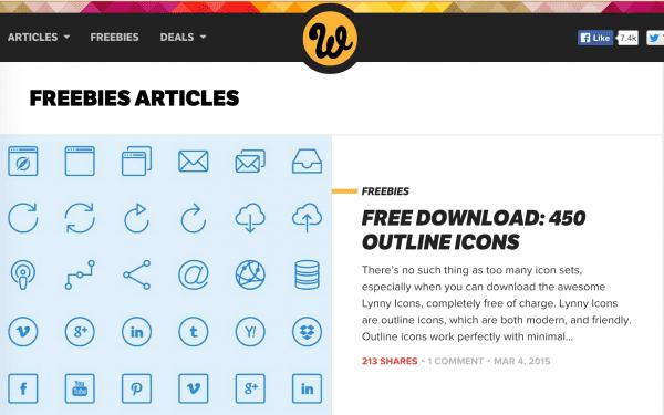 Find free image assets on Web Designer Depot