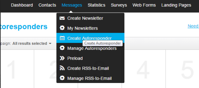Creating an autoresponder