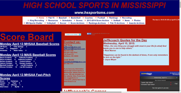 High School Sports In Mississippi