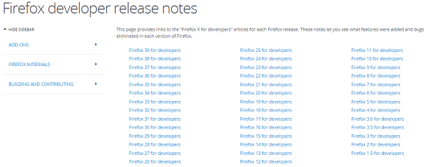 Firefox Developer Release Notes