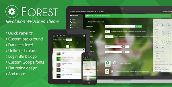 Forest Dashboard Theme for WordPress