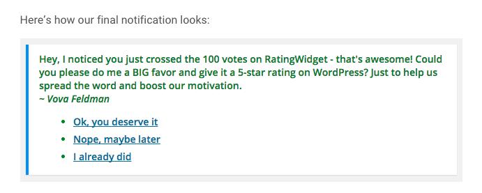 Ratingwidget Automation Screenshot