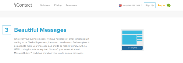 iContact email templates