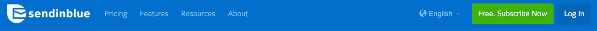 SendinBlue's 'Subscribe Now' button