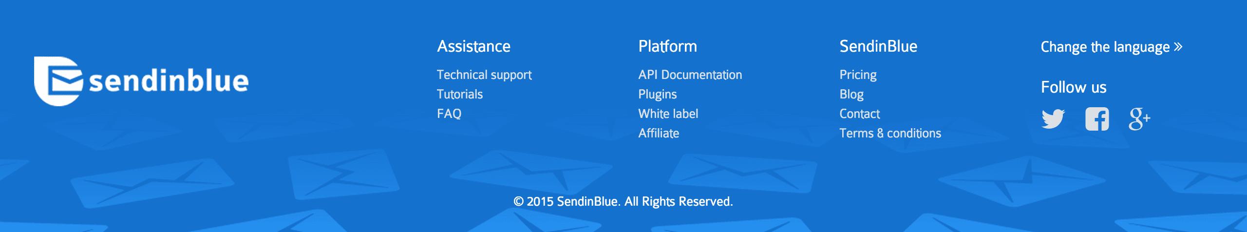 SendinBlue support link