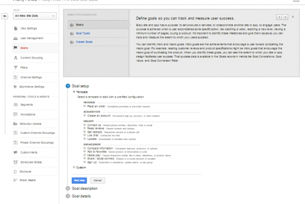 Split testing with Google Analytics