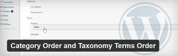 Category Order and Taxonomy Order