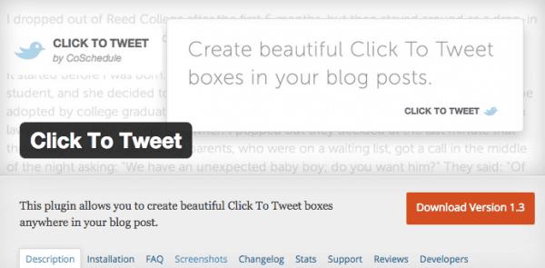 Click to Tweet Screenshot