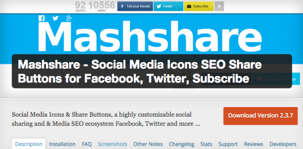 Mashshare Screenshot