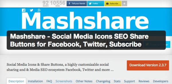 Mashshare Screenshot