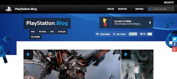 Playstation homepage