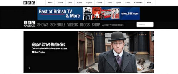 BBC America homepage