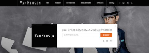 Van Heusen Homepage