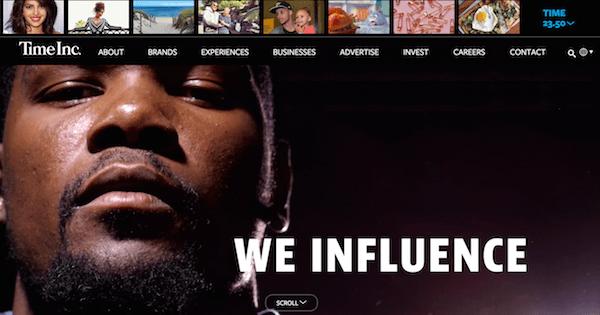 Time Inc homepage