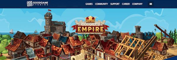 GoodGames homepage
