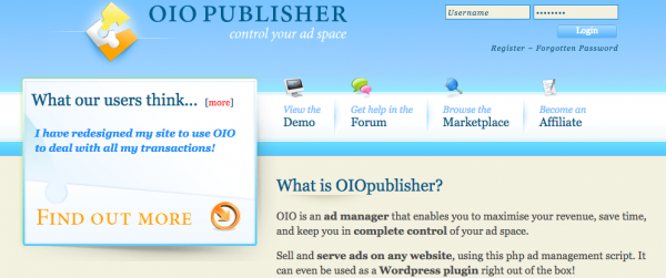 Sell Ad space with OIO Publisher