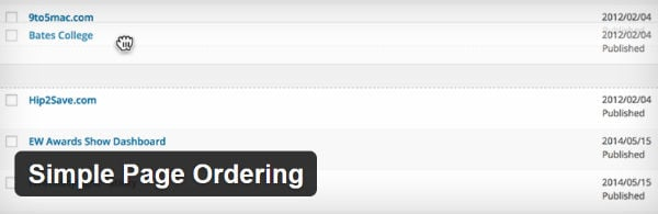 Simple Page Ordering Plugin