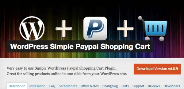 Simple PayPal Shopping Cart Screenshot Small