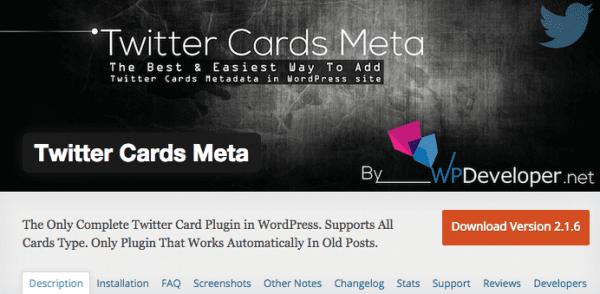 Twitter Cards Meta Screenshot