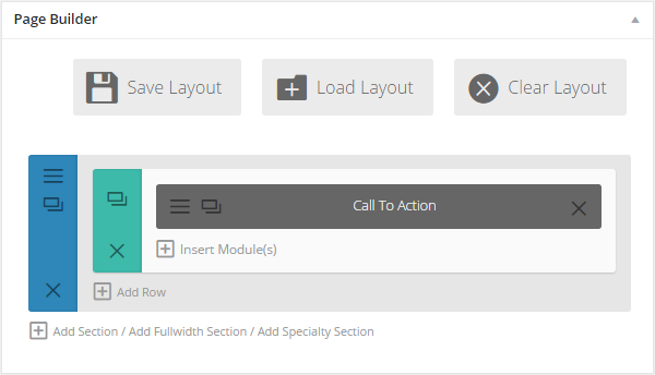 Add Another Module to the Section Page Layout