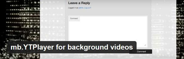 Plugin for Using YouTube Videos as Backgrounds