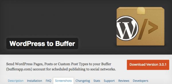 WP to Buffer Screenshot