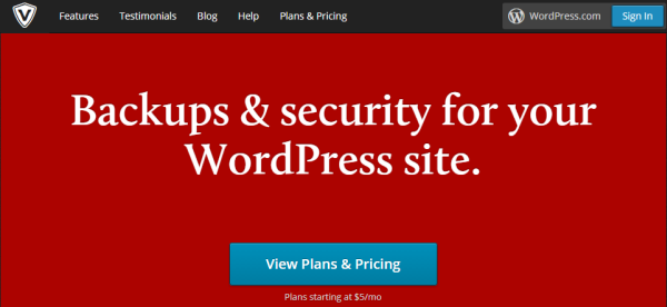 Wordpress with SaaS - VaultPress