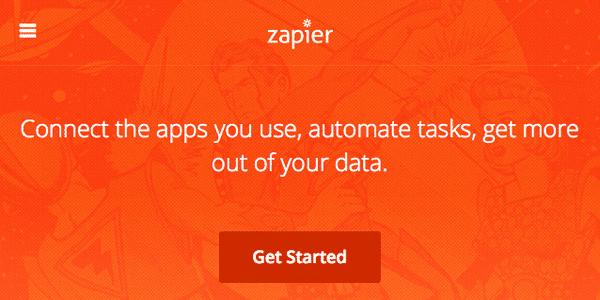 Zapier homepage screenshot