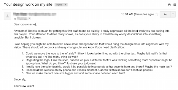 Client email